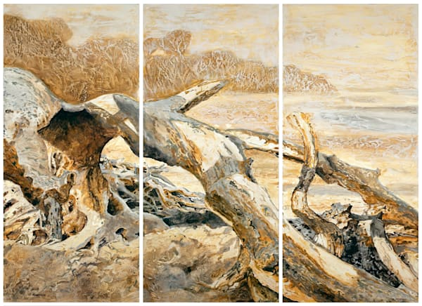 Ensembles in Golds and Greys 1, 2, 3 | Triptych | Gordon Meggison IV