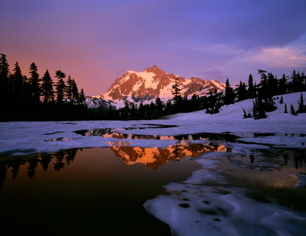 Mt. Shuksan and Picture Lake, North Cascades National Park, Washington