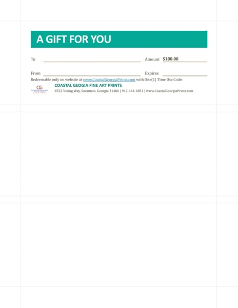 100.00 Gift Certificate