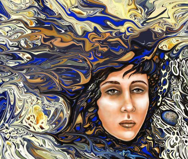 Surrealistic Fantasty Portrait Digital Painting