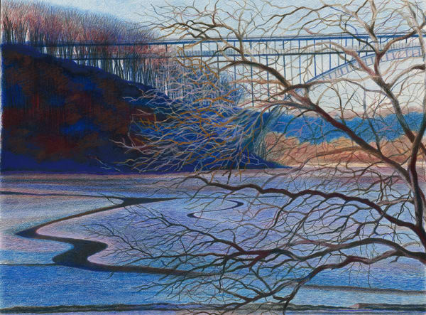 The Henry Hudson Bridge Waters Of Inwood Park Tree Landscape