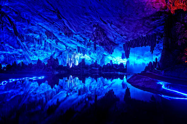 Beautiful Fine Art Paintings and Photographs by Vivian Lo – Picture of Reed Flute Cave in Guilin, China. Originals and Prints for sale - VLo Photo