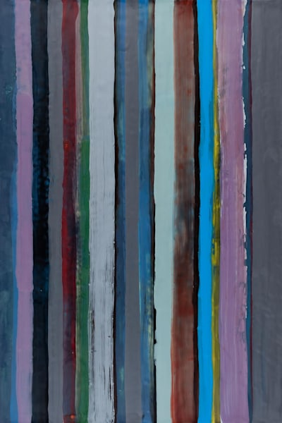 "NIGHTLINES 2 (2015) by Kathy Cantwell. Encaustic / 24"" x 36"""