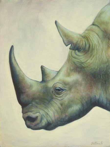 The Rhino - wood print