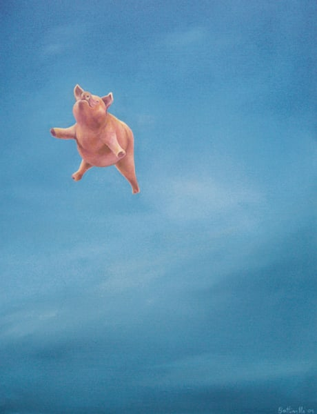 When Pigs Fall - wood print