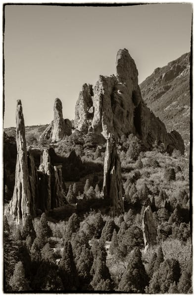 Landscape Photo Garden of the Gods Rock Formations Colorado Springs