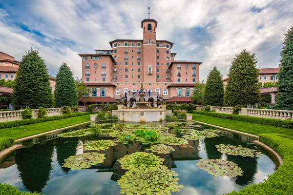 Photograph of The Broadmoor Hotel Resort Main Entrance Fountain and Lily Pond