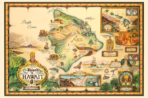 Historical Maps | Map of Hawaii by Blaise Domino