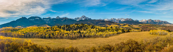 High Resolution Panoramic Photo Colorado Mount Sneffels Range & Wilderness