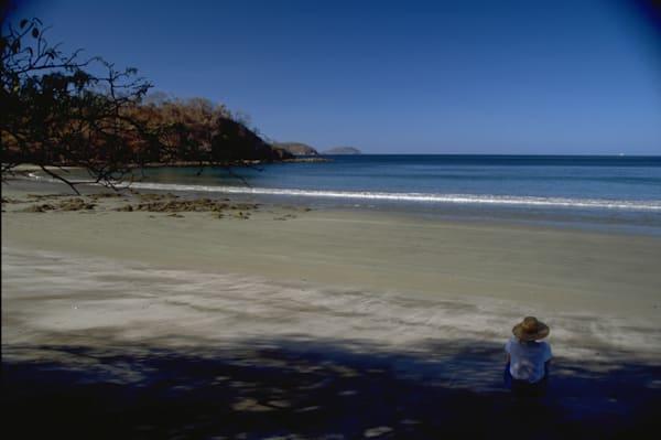 Sole Woman on Beach