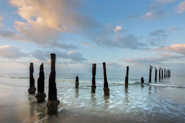 7061 Pier Posts Ft Myers Art | Cunningham Gallery