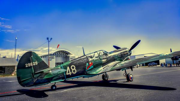 Curtiss P-40 Flying Tigers Warhawk WW2 Restored fleblanc