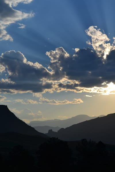 Photograph of a valley at sunset for sale as Fine Art