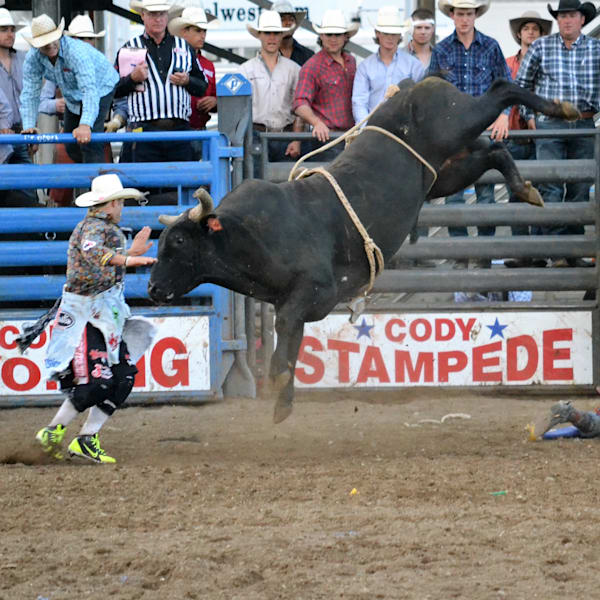 Photograph of a black bull and a bullfighter for sale as Fine Art