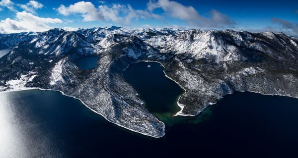 Winter Jewel, Limited Edition Emerald Bay Lake Tahoe Aerial Photo Print