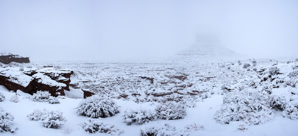 Frozen Mesa - Monument Valley winter snowstorm print