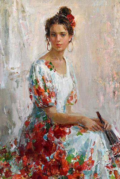 Woman Portrait of a Woman Painting by Anastasiya Matveeva