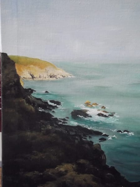 Hell's Mouth, Cornwall by Maria Bertolone an artist from Blackpool, United Kingdom