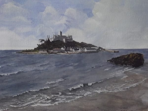 St. Michael's Mount, Cornwall by Maria Bertolone an artist from Blackpool, United Kingdom