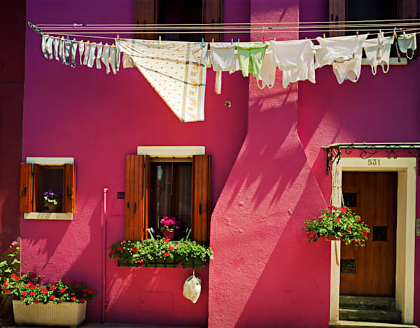 Another Red Wall With Laundry Photography Art | frednewmanphotography