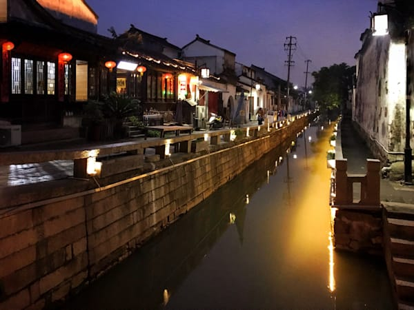 Beautiful Fine Art Paintings and Photographs by Vivian Lo – Picture of the ancient water town Zhouzhuang Water Village, China. Originals and Prints for sale - VLo Photo