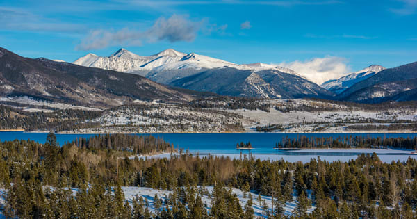 Early Winter Photo of Lake Dillon Reservoir, Summit County Colorado Prints for Sale