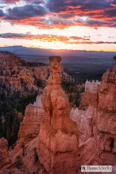 Bryce Canyon Fine Art photography prints/Thor's Hammer at sunrise by Thomas Schoeller/High definition acrylic float mount prints available