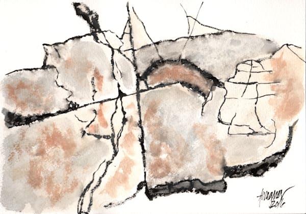 Rock Faces Watercolor