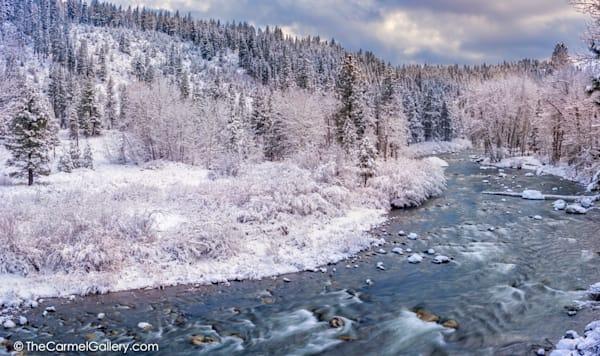 Winter Panorama Truckee River Art | The Carmel Gallery