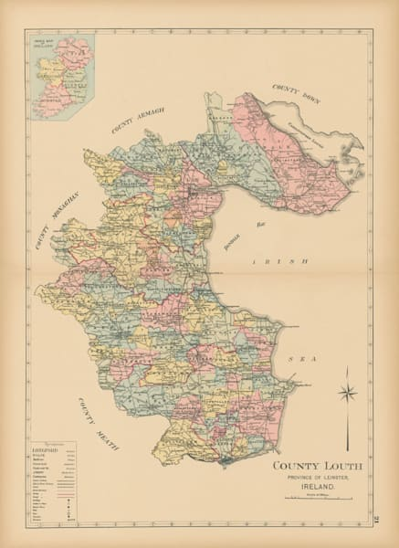 Map Of County Louth Art | Frame Center