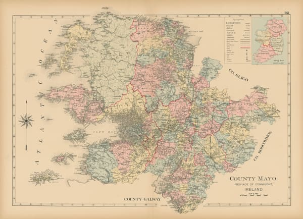 map of county mayo