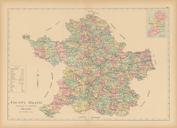 Map Of County Meath Art | Frame Center