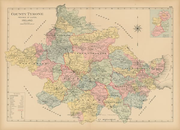 Map Of County Tyrone Art | Frame Center