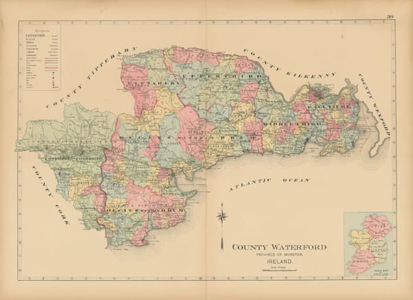 Map Of County Waterford Art | Frame Center