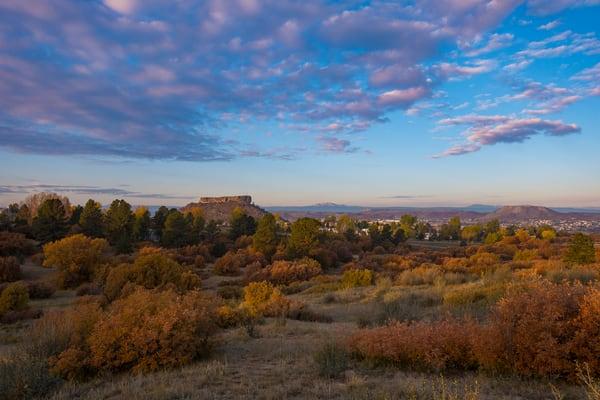 Autumn Sunrise Castle Rock Colorado - Photography Print for Sale