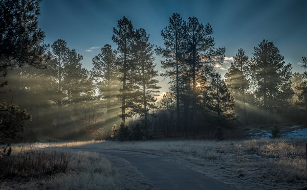 Magical Winter Sunrise in Castle Rock  - Colorado Landscape Photography