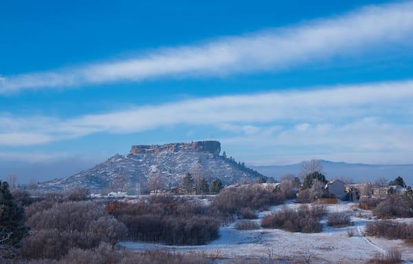 Photo of Castle Rock Colorado Winter Morning Fog & Mist