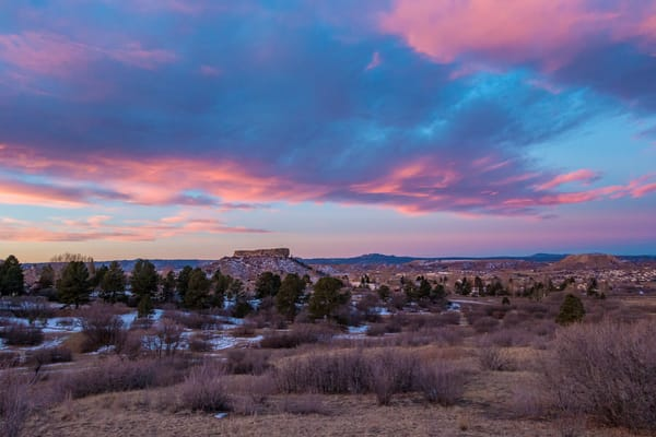 Photo of Beautiful Castle Rock Colorado Winter Morning