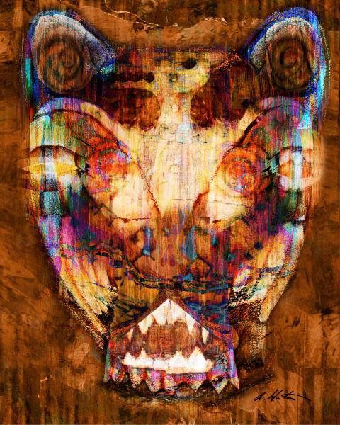 Art of Jaguar Panther by Alyssa Hinton-Original-Mixed Media Paintings-Fine Art Prints on Canvas, Paper, Metal & More