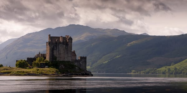 Mountain Wall Art: Castle on the Loch