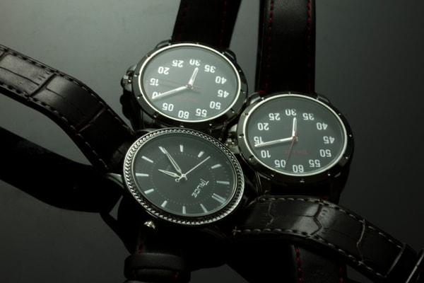 Fine Art Photographs of Watches on Black Plexi by Michael Pucciarelli
