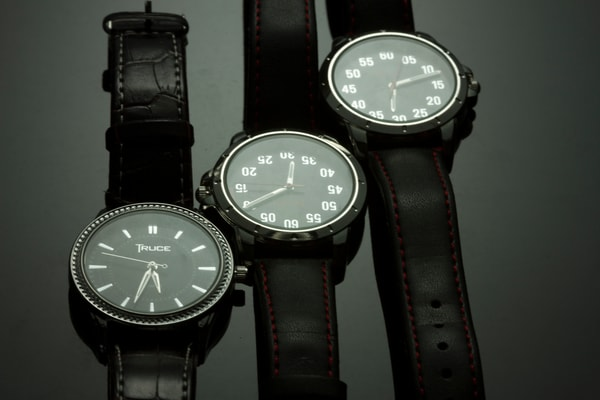 Watches on Black Plexi