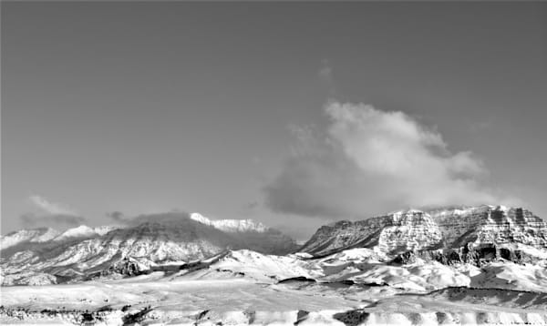 Black and White Photograph of Jim Mountain in Wapiti Valley for sale as Fine Art