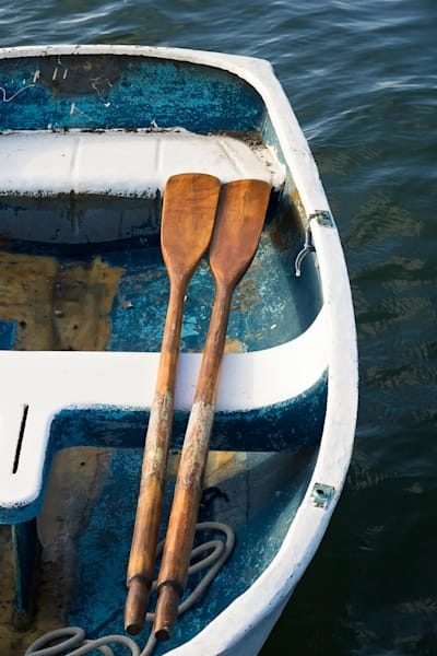 """""""Room for Two"""" fine art, vertical boat photography print by Katherine Gendreau"""