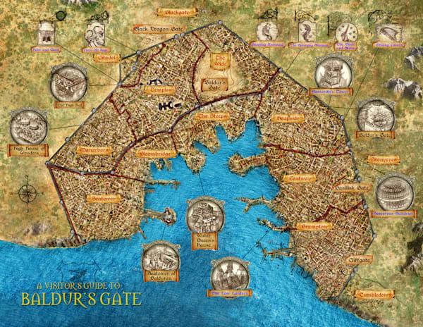 Baldurs Gate City Map
