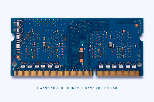 Mac Memory Module I Want You Photo by Daniel Sussman