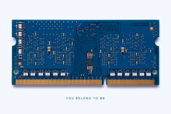 MacMini Memory Module You Belong to Me Photograph by Daniel Sussman