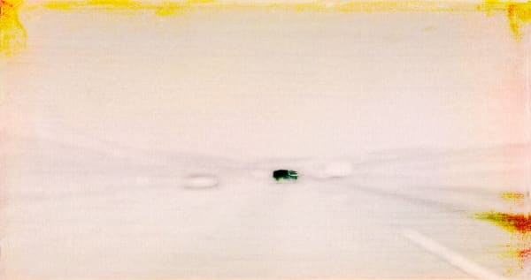 Polaroid Photograph of Cars on Freeway inspired by Rothko