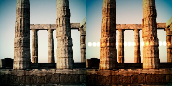 Photograph of Temple of Poseidon from Poseidon Series