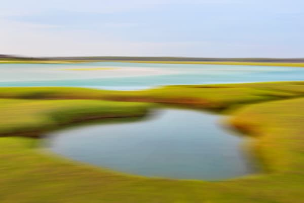 """Garden Creek Marsh"" - Abstract Cape Cod marsh fine art"